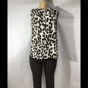 EUC CALVIN KLEIN SLEEVELESS ANIMAL PRINT TOP SZ LG